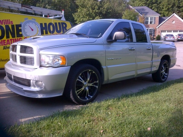 SILVER 2005 Dodge RAM SRT10 QUAD CAB